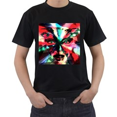 Abstract girl Men s T-Shirt (Black)
