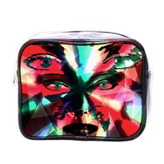 Abstract girl Mini Toiletries Bags