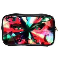 Abstract girl Toiletries Bags