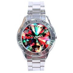 Abstract girl Stainless Steel Analogue Watch