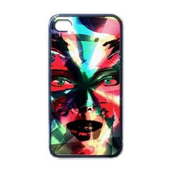 Abstract girl Apple iPhone 4 Case (Black)