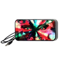 Abstract girl Portable Speaker (Black)
