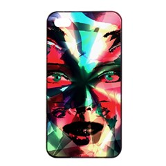 Abstract girl Apple iPhone 4/4s Seamless Case (Black)