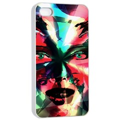Abstract girl Apple iPhone 4/4s Seamless Case (White)