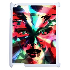 Abstract girl Apple iPad 2 Case (White)