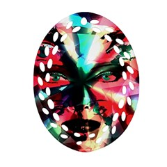 Abstract girl Ornament (Oval Filigree)