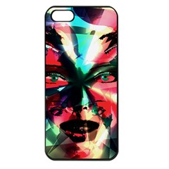 Abstract girl Apple iPhone 5 Seamless Case (Black)