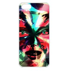 Abstract girl Apple iPhone 5 Seamless Case (White)