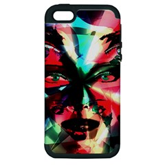 Abstract girl Apple iPhone 5 Hardshell Case (PC+Silicone)