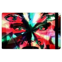 Abstract girl Apple iPad 2 Flip Case