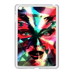 Abstract girl Apple iPad Mini Case (White)