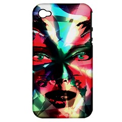 Abstract girl Apple iPhone 4/4S Hardshell Case (PC+Silicone)