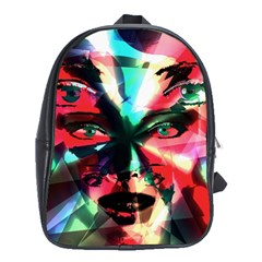 Abstract girl School Bags (XL)