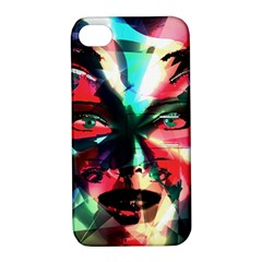 Abstract girl Apple iPhone 4/4S Hardshell Case with Stand