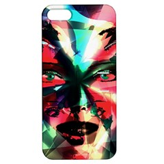 Abstract girl Apple iPhone 5 Hardshell Case with Stand