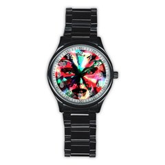 Abstract girl Stainless Steel Round Watch