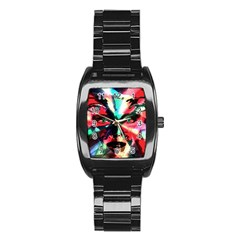 Abstract girl Stainless Steel Barrel Watch