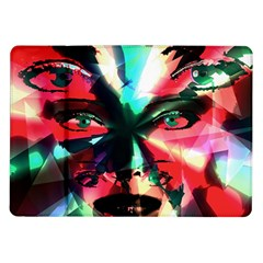 Abstract girl Samsung Galaxy Tab 10.1  P7500 Flip Case