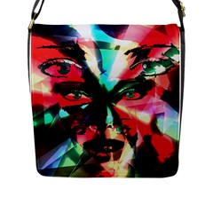 Abstract girl Flap Messenger Bag (L)