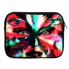 Abstract girl Apple iPad 2/3/4 Zipper Cases