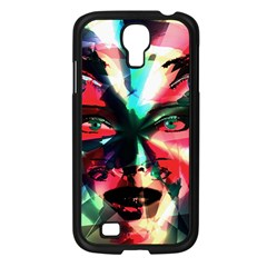 Abstract girl Samsung Galaxy S4 I9500/ I9505 Case (Black)