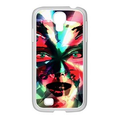Abstract girl Samsung GALAXY S4 I9500/ I9505 Case (White)