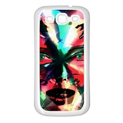 Abstract girl Samsung Galaxy S3 Back Case (White)