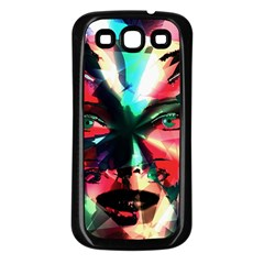 Abstract girl Samsung Galaxy S3 Back Case (Black)