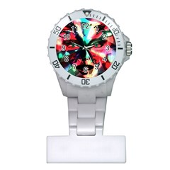 Abstract girl Plastic Nurses Watch