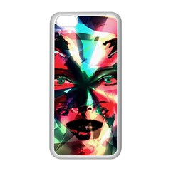 Abstract girl Apple iPhone 5C Seamless Case (White)
