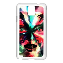 Abstract girl Samsung Galaxy Note 3 N9005 Case (White)