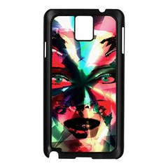 Abstract girl Samsung Galaxy Note 3 N9005 Case (Black)