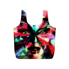 Abstract girl Full Print Recycle Bags (S)