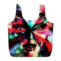 Abstract girl Full Print Recycle Bags (L)