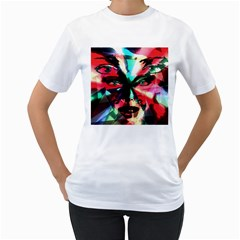 Abstract girl Women s T-Shirt (White)