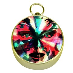 Abstract girl Gold Compasses