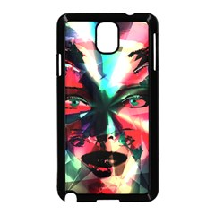 Abstract girl Samsung Galaxy Note 3 Neo Hardshell Case (Black)