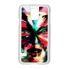 Abstract girl Samsung Galaxy S5 Case (White)