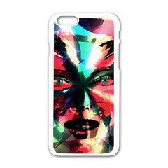 Abstract girl Apple iPhone 6/6S White Enamel Case