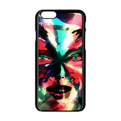 Abstract girl Apple iPhone 6/6S Black Enamel Case