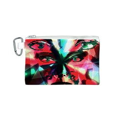 Abstract girl Canvas Cosmetic Bag (S)