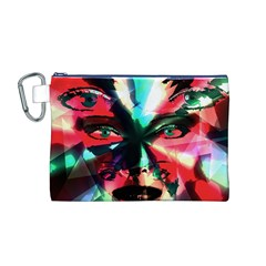 Abstract girl Canvas Cosmetic Bag (M)
