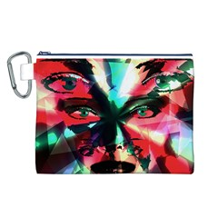Abstract girl Canvas Cosmetic Bag (L)