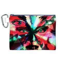 Abstract girl Canvas Cosmetic Bag (XL)