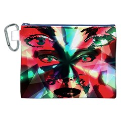 Abstract girl Canvas Cosmetic Bag (XXL)
