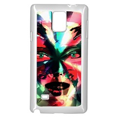 Abstract girl Samsung Galaxy Note 4 Case (White)