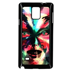 Abstract girl Samsung Galaxy Note 4 Case (Black)