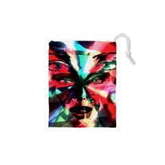 Abstract girl Drawstring Pouches (XS)