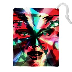 Abstract girl Drawstring Pouches (XXL)