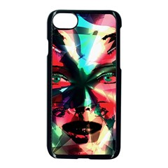 Abstract girl Apple iPhone 7 Seamless Case (Black)